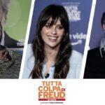 Da sinistra: Luca Bizzarri, Claudia Pandolfi e Max Tortora, i protagonisti di Tutta Colpa Di Freud - La Serie. Credits: Prime Video/Tvserial.it