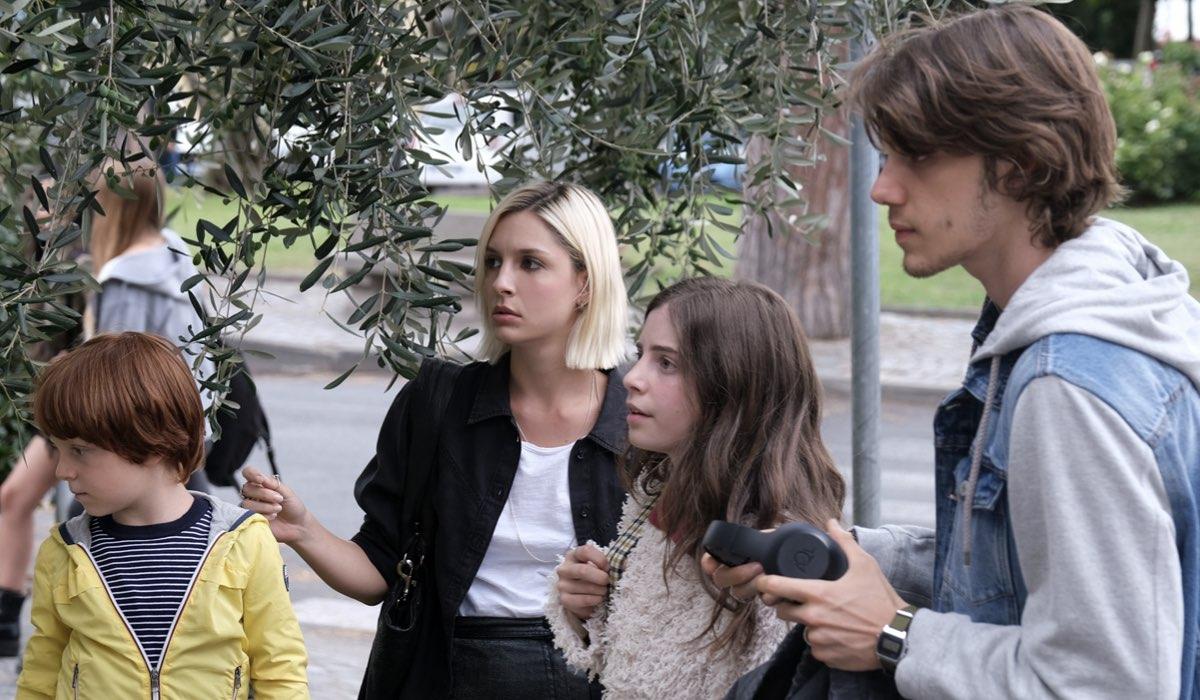 Una Scena Di Buongiorno Mamma con Bartocci, Arnera, Giuggioli e Francesconi. Credits: Mediaset