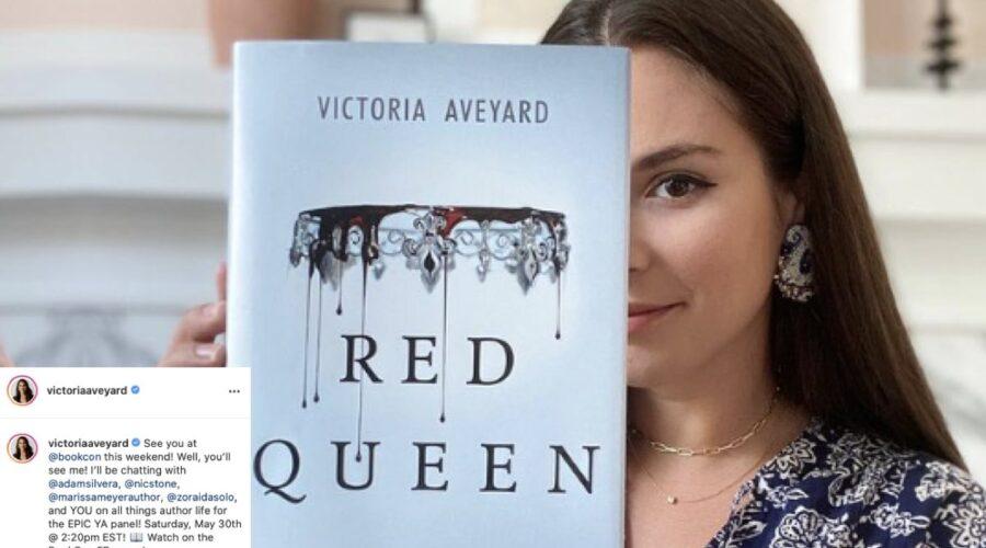 Victoria Aveyard Con Il Suo Romanzo Red Queen. Credits: Instagram Via Profilo Ufficiale @victoriaaveyard