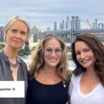 Sarah Jessica Parker,Cynthia Nixon eKristin Davis foto via instagram sarah jessica parker