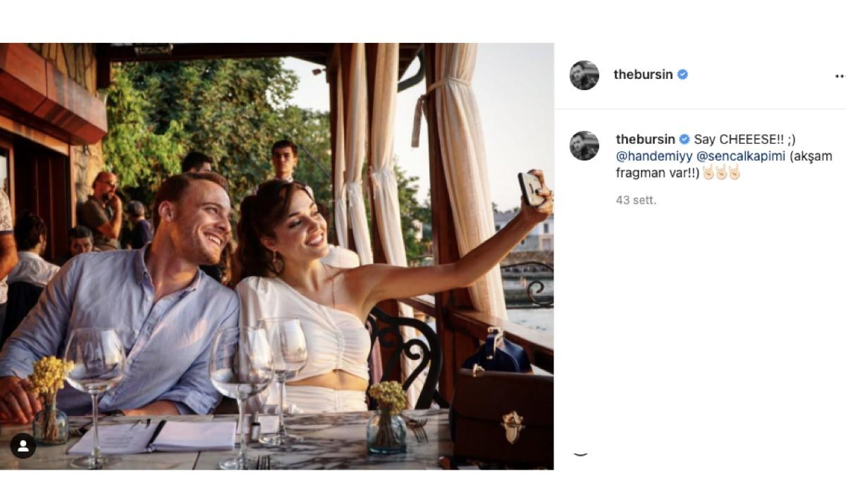Foto Postata Sul Profilo Instagram Ufficiale Dell'attore Kerem Bursin