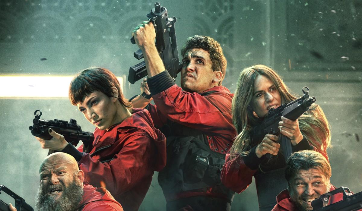 Un particolare dal poster de La Casa di Carta 5. Credits: Netflix.
