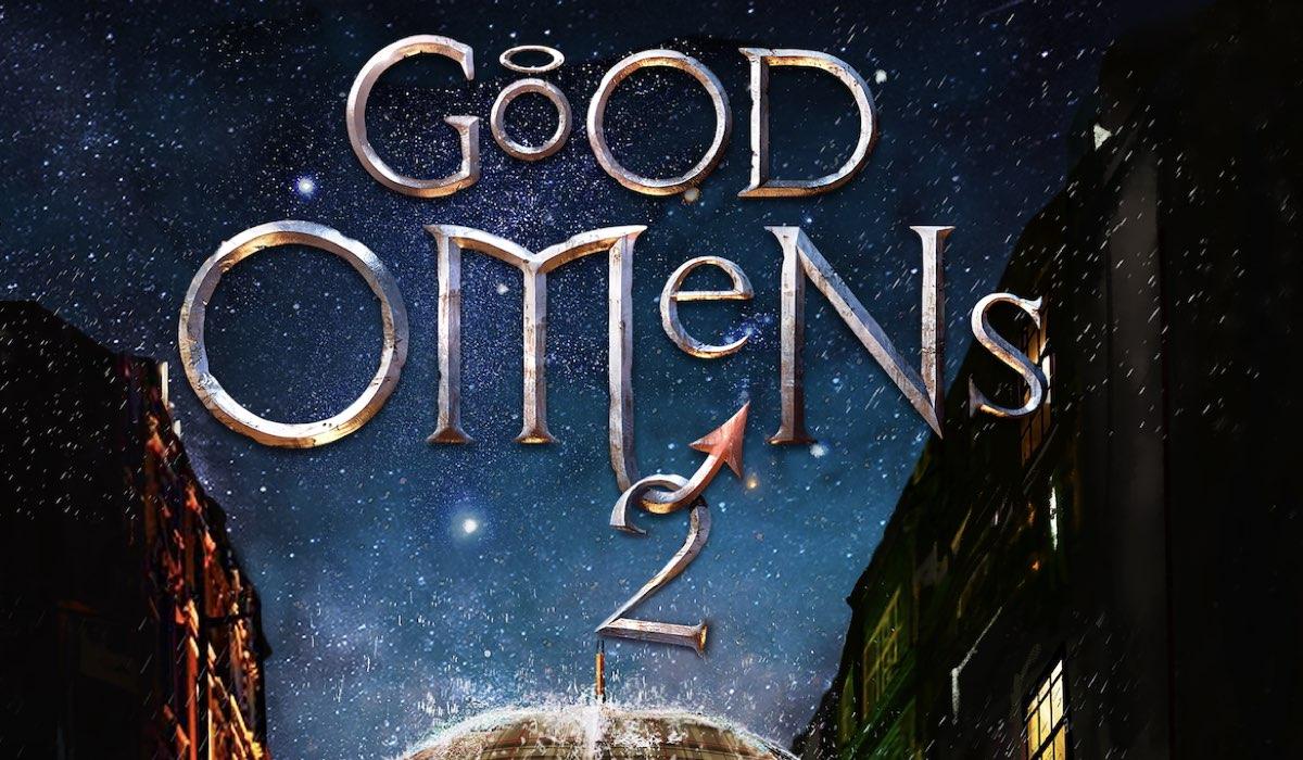 Il logo nel teaser poster di Good Omens 2. Credits: Amazon Studios.
