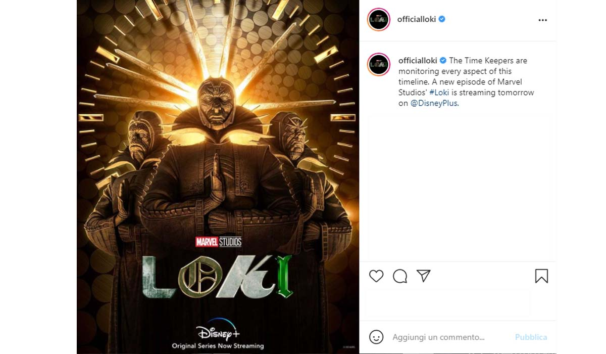 I Custodi Temporali nella serie televisiva Loki. Credits: Instagram Via Profilo @officialloki