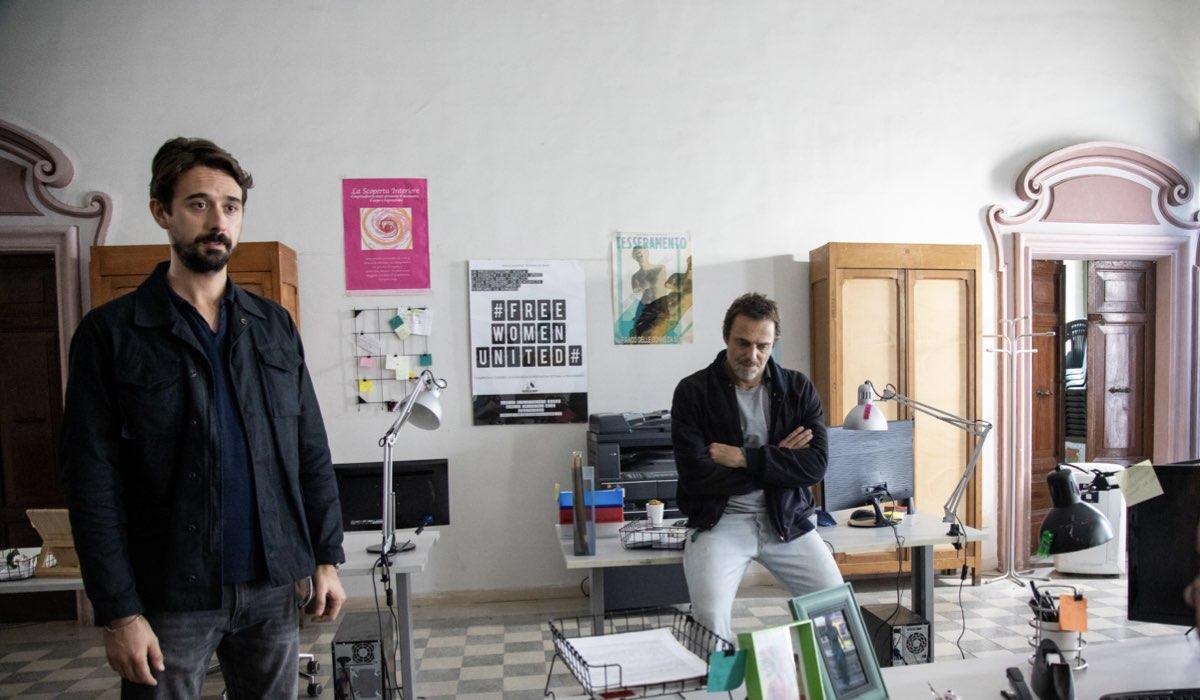 Masantonio - Sezione Scomparsi: Davide Iacopini e Alessandro Preziosi interpretano Sandro Riva e Elio Masantonio. Credits: Ufficio Stampa Mediaset