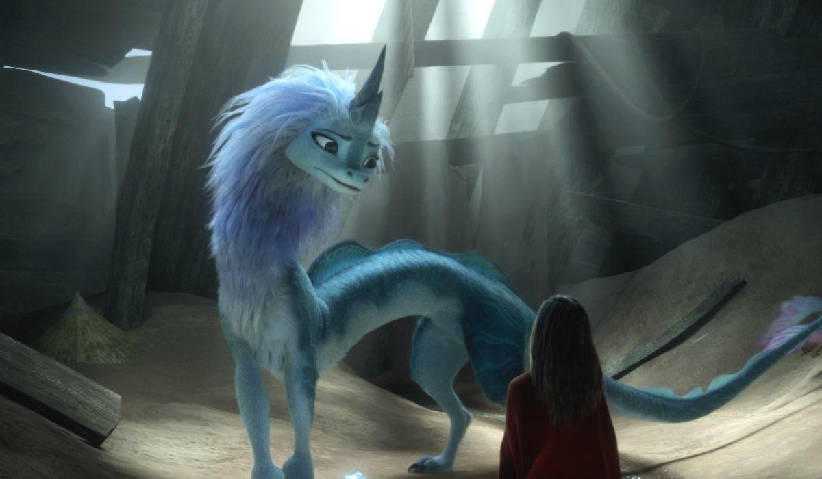 Raya e l'Ultimo drago, una scena del film di animazione. Credits: Disney+