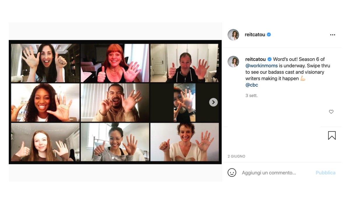 Screenshot di un Post Instagram Pubblicato Dall'attrice Catherine Reitman
