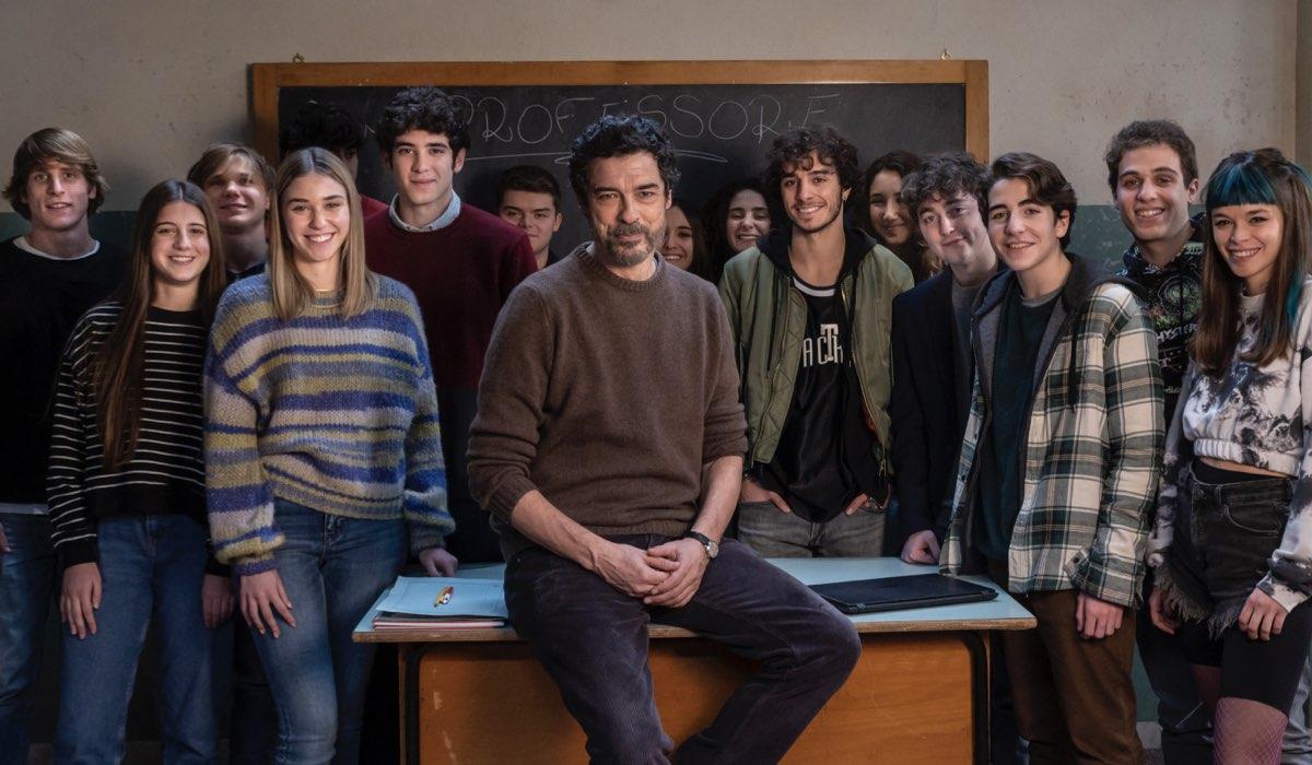 Un Professore con Alessandro Gassmann. Credits: Rai