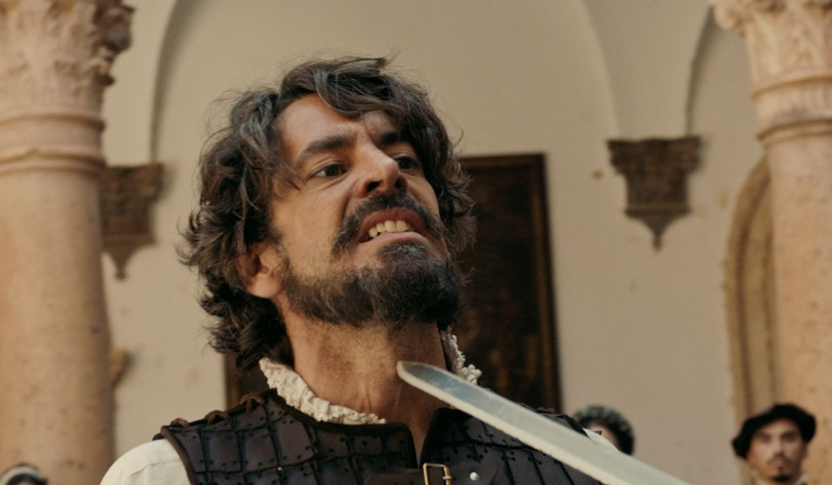 Inés dell'Anima Mia: Eduardo Noriega interpreta il conquistatore Pedro de Valdivia. Credits: Mediaset