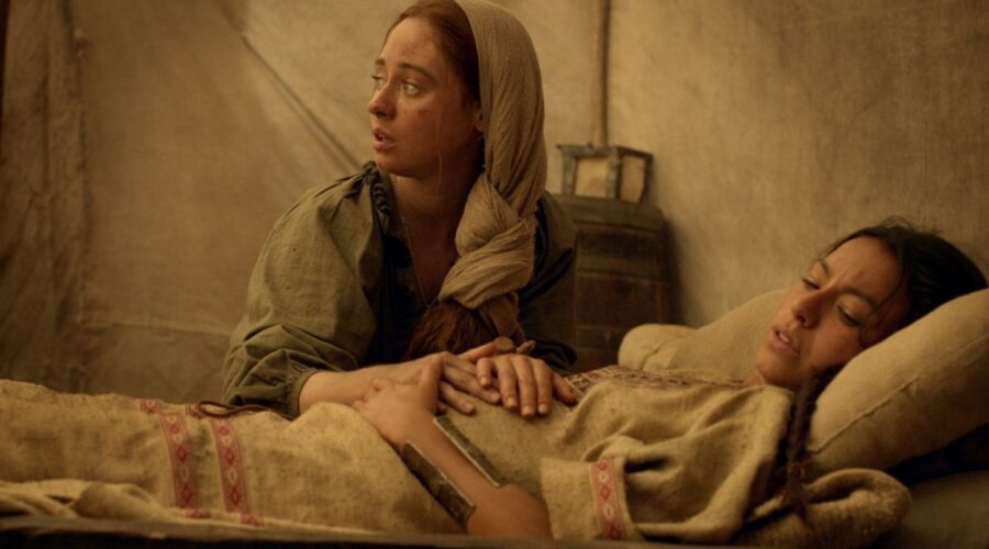 Inés dell'Anima Mia: Elena Rivera (Inés Suarez) e Antonia Giesen (Cecilia). Credits: Mediaset