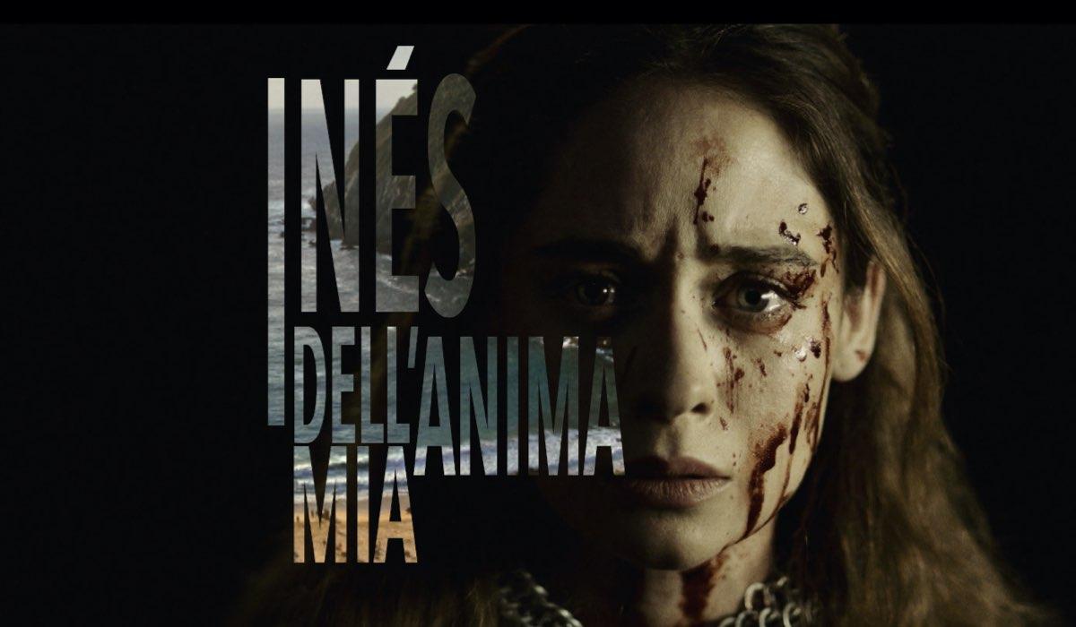 "Elena Rivera (Inés Suárez) nella locandina italiana de ""Inés dell'anima mia"