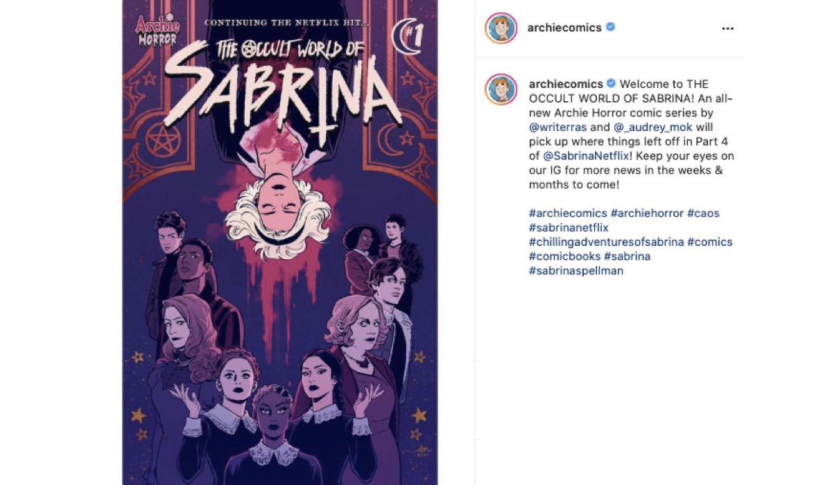 Nuova Serie A Fumetti De Le Terrificanti Avventure Di Sabrina. Credits: Instagram Via Profilo @archiecomics
