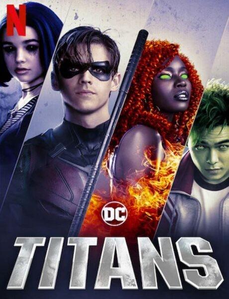 La locandina della serie TV Titans. Credits: Netflix e DC Universe.