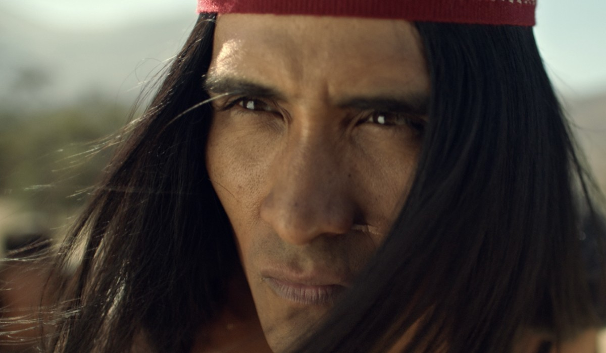 Gastón Salgado (Michimalonco) in una scena de