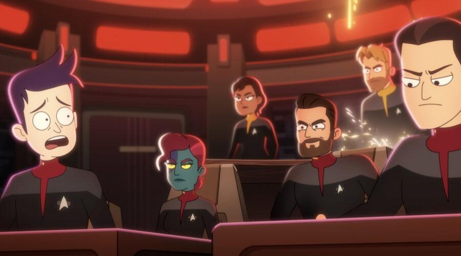 Star Trek: Lower Decks, una scena della seconda stagione. Credits: Prime Video.