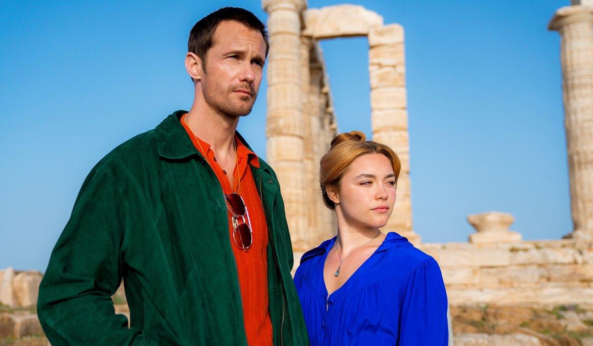 Alexander Skarsgard (Gadi Becker) e Florence Pugh (Charlie) In Una Scena De La Tamburina Credits: laF