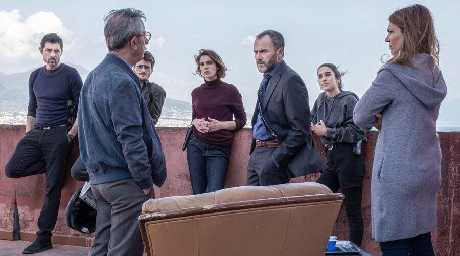 I protagonisti della serie TV I Bastardi di Pizzofalcone 3. Credits: Anna Camerlingo/Rai.