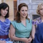 Da sinistra: Grace Ambrose (Stefania Colombo), Mariavittoria Cozzella (Dora Vianello), Francesca Del Fa (Irene Cipriani) in una scena de