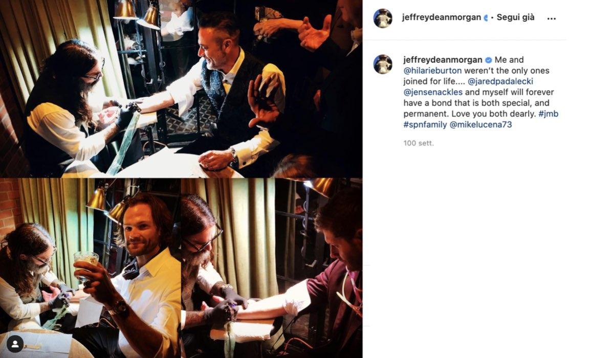 jeffrey dean morgan tatuaggio supernatural instagram post