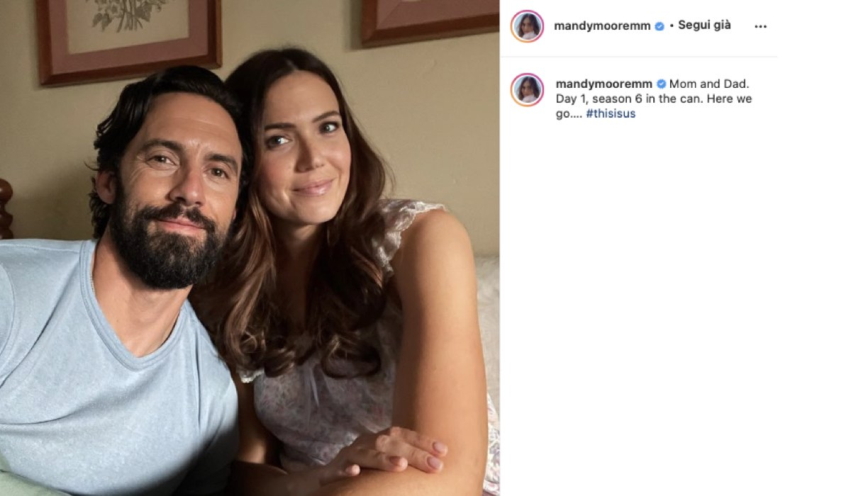 Milo Ventimiglia E Mandy Moore Sul Set Di This Is Us. Credits: Instagram Via Profilo @mandymooremm