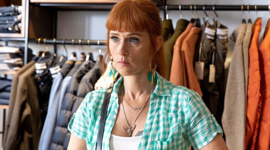 Audrey Fleurot in una scena della serie televisiva Morgane - Detective geniale. Credits: Toussaint/Rai.