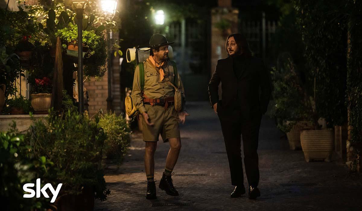 Fabio De Luigi e Alessandro Betti nella serie TV Ridatemi mia moglie. Credits: Sky e Loris Zambelli.