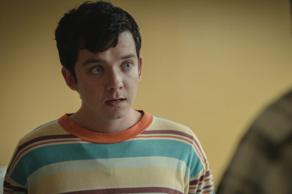 "Asa Butterfield in una scena di ""Sex Education"". Credits: Sam Taylor/Netflix."