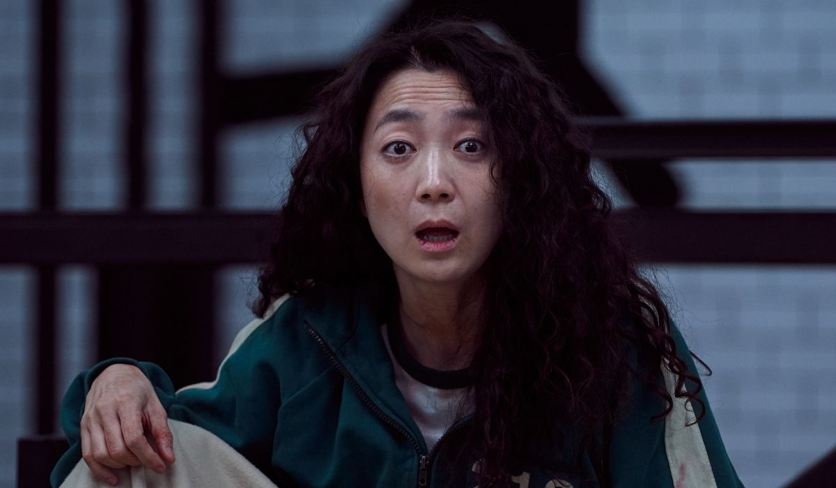 Squid Game: Kim Joo-ryung in una scena dell'episodio 108. Credits: Netflix