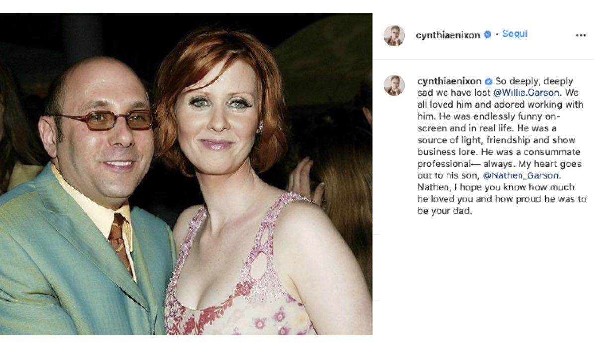 Willie Garson e Cynthina Nixon. Credits: Instagram Via @cynthiaenixon