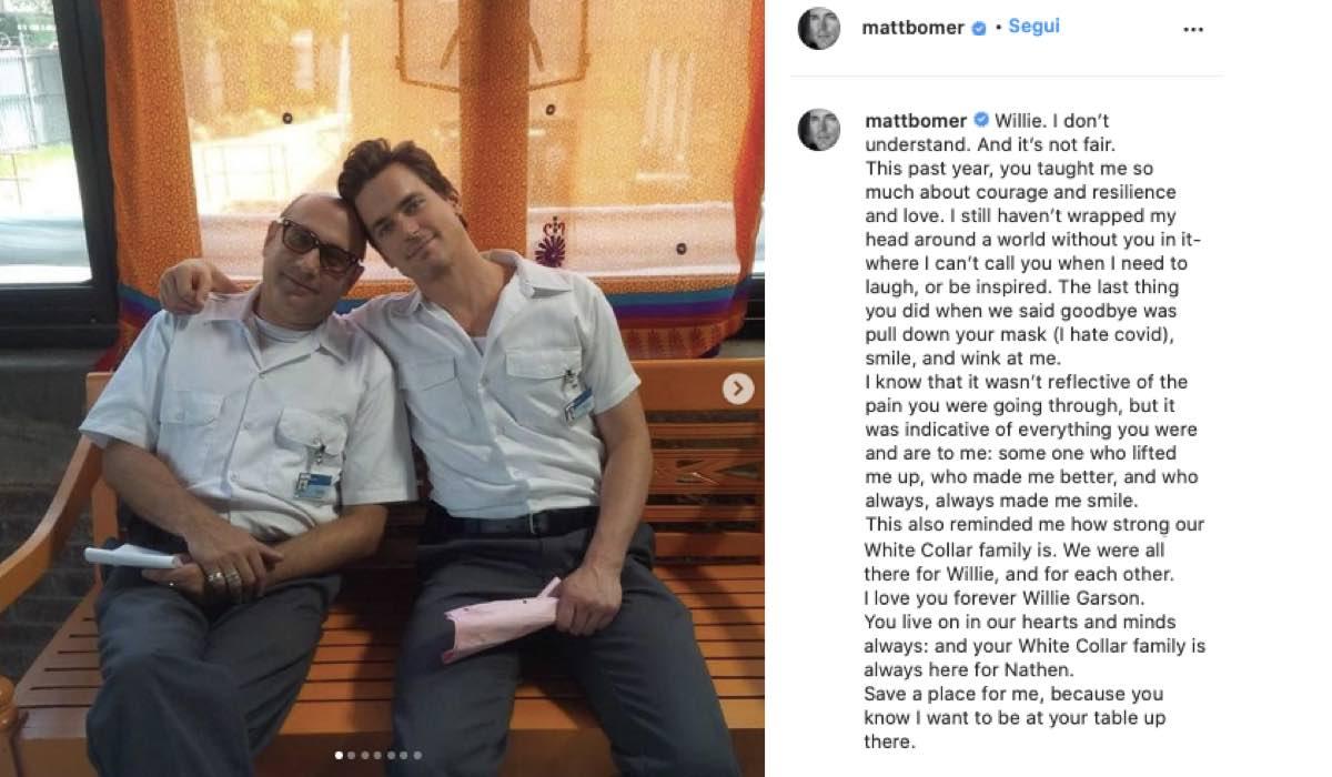Willie Garson E Matt Bomer. Credits: Instagram Via @mattbomer