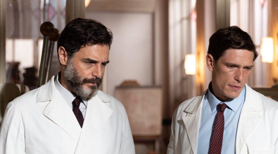 Daniele Pecci (Cesare) e Matteo Martari (Alberto) In Cuori Credits: Rai