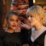 Jordan Alexander ed Emily Alyn Lind nella serie televisiva Gossip Girl. Credits: Sky/HBO Max.
