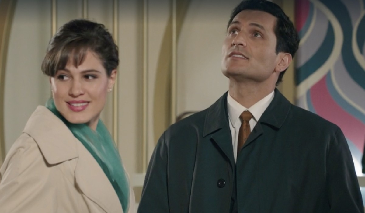 Giulia Vecchio (Anna Imbriani) e Alessandro Tersigni (Vittorio Conti) in una scena della puntata 19 de