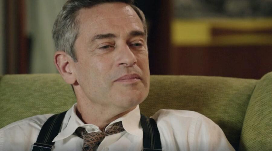 Massimo Poggio (Ezio Colombo) in una scena della puntata 28 de