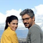 Anna Valle (Emma Conti) e Giuseppe Zeno (Enrico Leoni) in un posato per