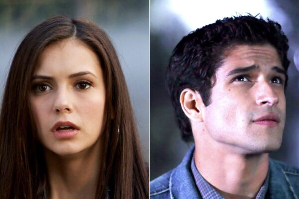 nina dobrev in the vampire diaries credits mediaset tyler posey in teen wolf courtesy of everett collection