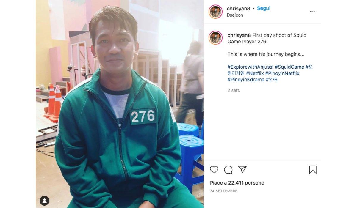 Post Instagram Pubblicato Dall'attore sudcoreano Christian Lagahit